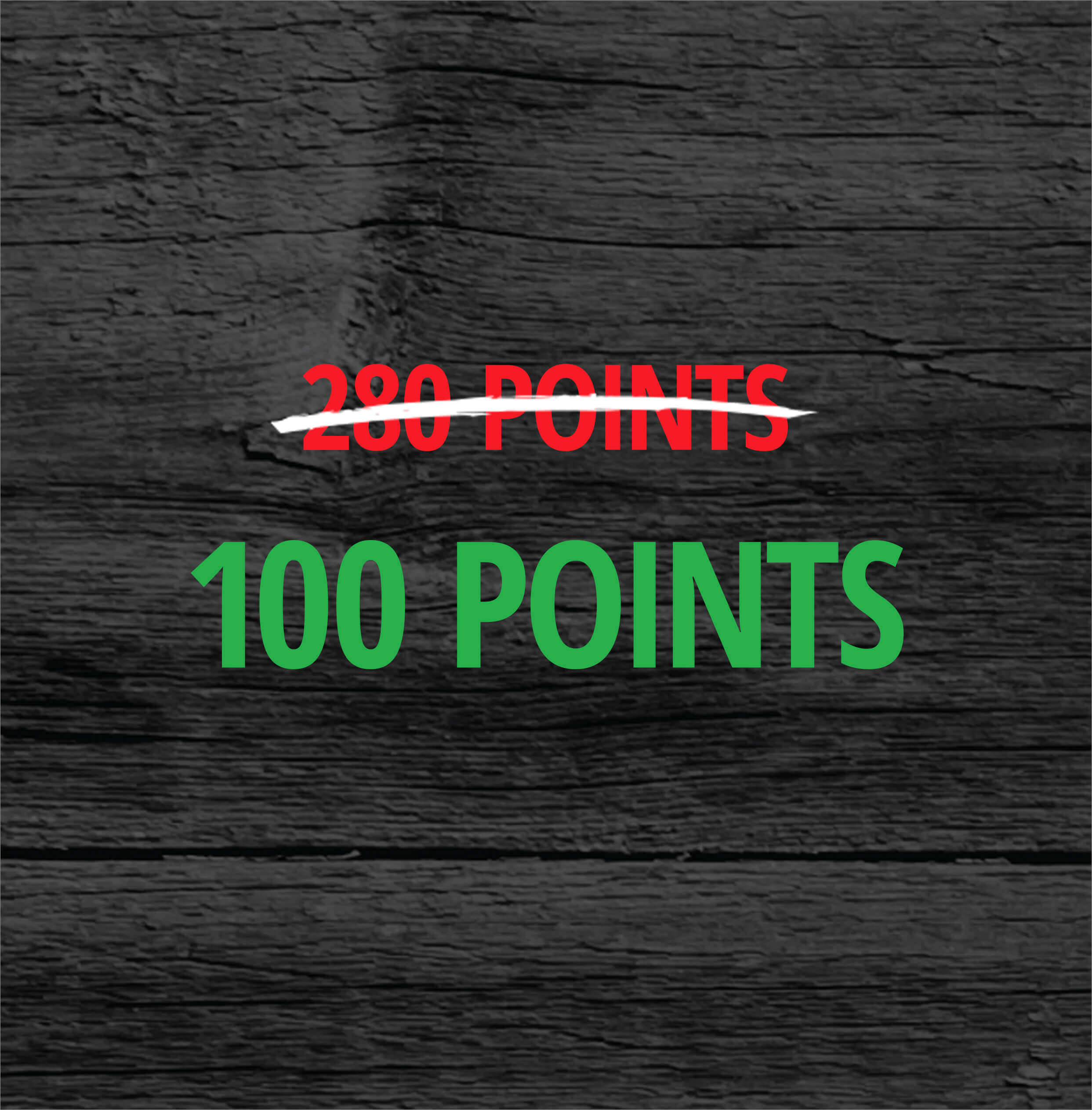 280 Points On Sale For 100 Points