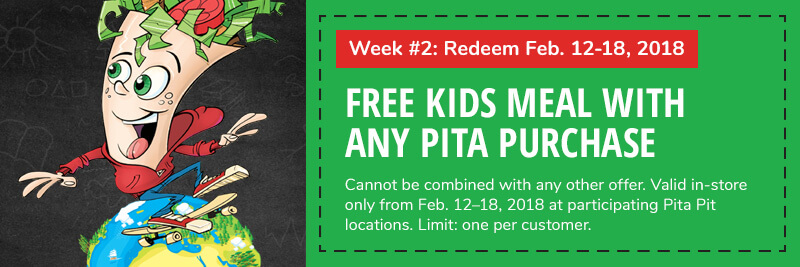 Week 2: Free kids meal with purchase