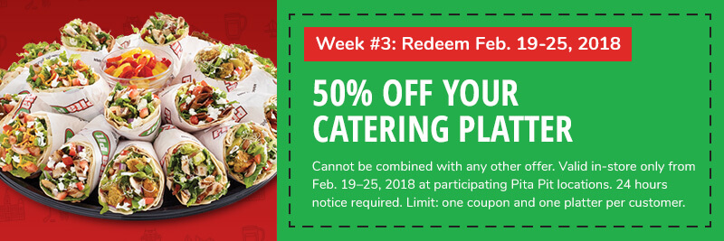 Week 3: 50% off your catering order