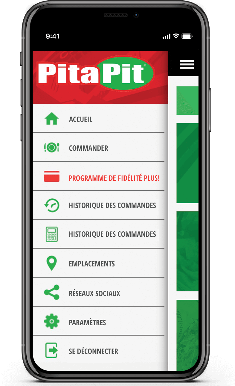 Pita Pit app features FR