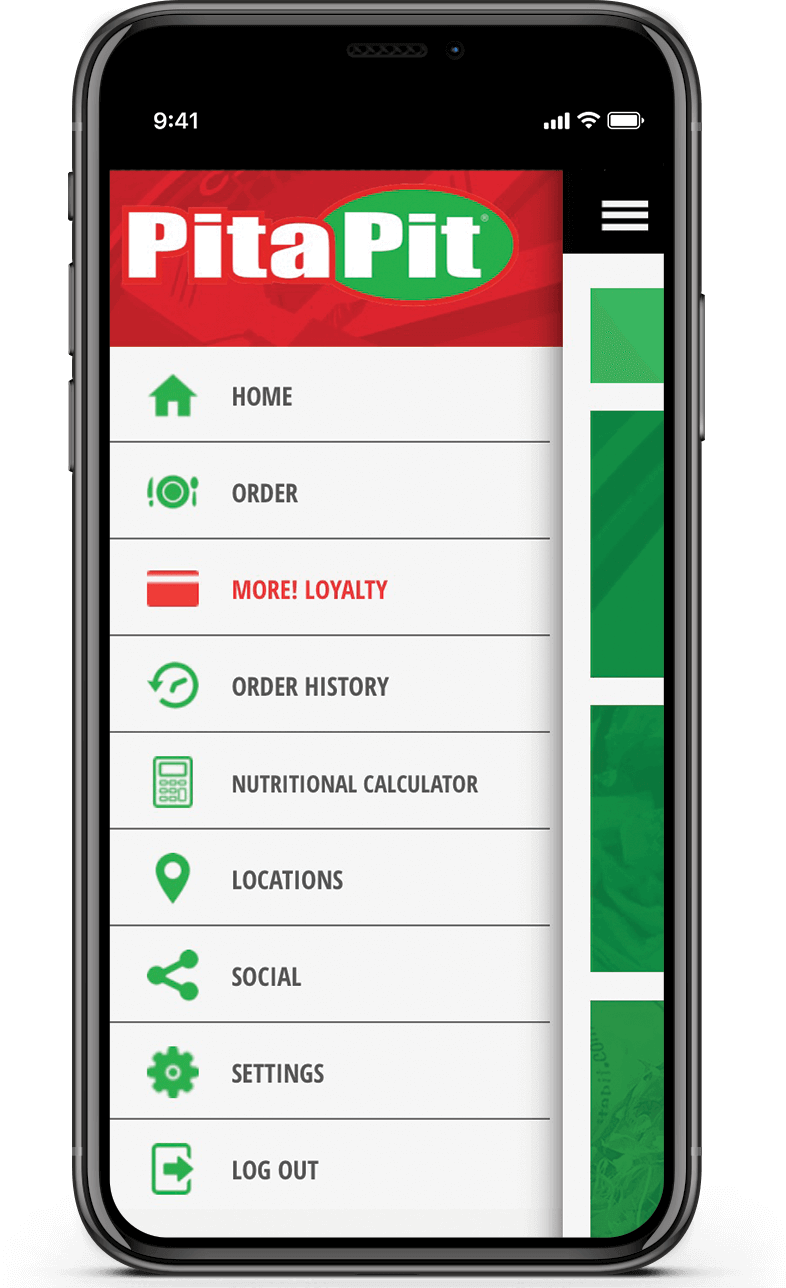 Pita Pit app features