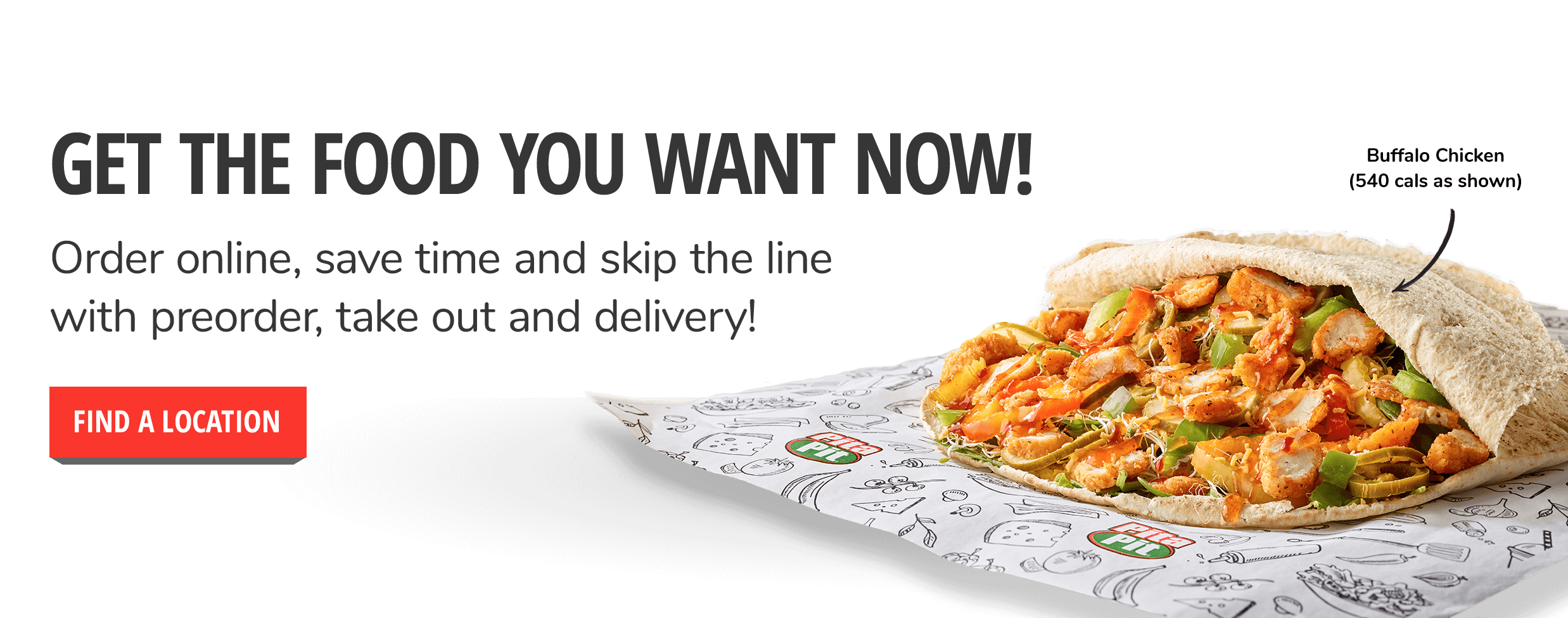 Get the food you want now!